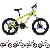 KAIMATE 20 дюймов 21 скорость горный велосипед 3-лопастные колеса передние и задние дисковые тормоза велосипед дети езда на горном велосипеде