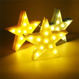 Linda LED Estrela Five-Pointed Night da noite para o Baby Kids Bedroom Home Decor