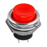 2Pcs 3A 125V Мгновенный кнопочный переключатель OFF-ON Рог красный пластик