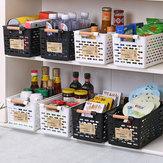 Plastic keuken Plastic koelkast Mand Koelkast Opbergrek Vriezer Plankhouder Badkamer Desktop Storag Plastic opbergkoffer Organizer
