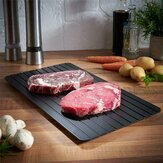 Defrosting Tray Thawing Plate Frozen Food Faster and Safer Way to Defrost Meat or Frozen Food Plate