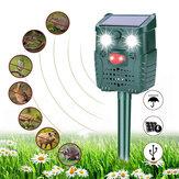 KCASA-WH528 Solar-Ultraschall-Tierschutz im Freien Schädlingsbekämpfungsfledermäuse Vögel Hunde Hunde Katzenschutzmittel mit Blinklicht