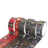 6 Gulungan Warna Solid DIY Kreatif Selotip Hadiah Natal Dekorasi Label Paket Stiker Kertas Segel
