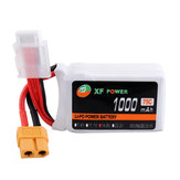XF POWER 14.8V 1000mAh 75C 4S Lipo Batería XT60 Enchufe para RC Racing Drone
