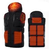 7 грелок, жилет с электроподогревом, зарядка через USB, зимняя теплая куртка унисекс, пальто с капюшоном, одежда, интеллектуальная постоянная