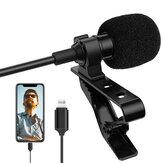 ALTSON AL-M1 Microfone condensador de lapela para celular Lightning para iPhone Microfone de lapela portátil para DV Audio Video Record Mic clip-on para filmadora de smartphone