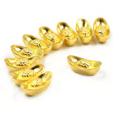 Lucky Money Golden Tone Lingot Feng Shui Mini decorazioni per ufficio a casa di buon auspicio