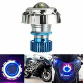 12V LED Projector Kit Hi/Low Beam Headlight Angel Devil Eye Motorcycle