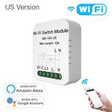 MoesHouse MS-104-US Mini DIY WiFi Умный модуль выключателя света Однополюсный / 3-сторонний 1-бандовый модуль Smart Life / Tuya Приложение для Amazon Alexa и Google Home