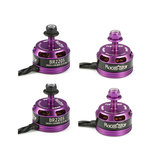 4X Racerstar Racing Edition 2205 BR2205 2600KV 2-4S Brushless Motor Purple For 210 X220 250 280 for RC Drone
