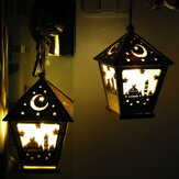 LED DIY House Wooden Lamp Festival Decorative Night Light Eid Mubarak Ramadan