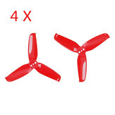 4 أزواج Gemfan Flash 2540 2.5x4 2.5 بوصة 3-Blade Propeller with 1.5mm Mounting Hole for RC Drone FPV Racing