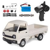 WPL D12 1/10 2.4G 2WD Militaire Truck Metalen Achterbrug Crawler Off Road RC Auto Voertuigmodellen Speelgoed