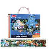48/140 Pcs Paper Rainforest Science Laboratory Puzzle Parent-child Educational Toy Set for Kids Gift