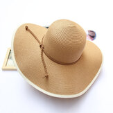 Donne Summer Wide Birm Bucket Cappello di paglia Outdoor Travel Sunshade Visor Beach Hat