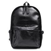 Sac à dos en cuir vintage étanche ordinateur portable noir sac école sac à bandoulière sac à dos Camping voyage affaires