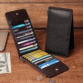 RFIDАнтимагнитныемужчиныНатуральнаяКожаБизнес Повседневные 20 слотов для карт 5.5 дюймов Телефон Сумка Длинный кошелек