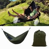 IPRee® Портативная 270x140CM Гамак Кемпинг 210T Нейлоновая двойная подвесная качающаяся ткань кровать