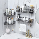 Banheiro Triangular Chuveiro Prateleira Canto Banheira Armazenamento Suporte Suporte Com Hooker