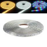 8M 5050 LED SMD Outdoor Su Geçirmez Esnek Bant Rope Şerit Işığı Xmas 220V