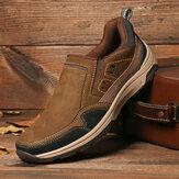 Menico Erkek Outdoor Kaymaz Rahat Slip-on Günlük Deri Ayakkabı