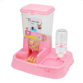 2 In 1 Large Automatic Pet Dog Cat Puppy Food Water Dish Bowl Dispenser Feeder