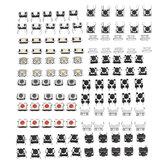 إجمالي 120 قطعة Tactile Tact Mini إدفع زر التبديل أكياس التبديل الجزئي 12 نوعًا لكل 10 قطعة