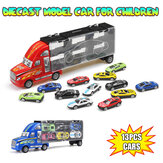 Red Or Blue Alloy Car Set Children's Inertial Truck Car Model Indoor Toys