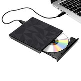 Przenośny USB 3.0 Czarna taca Zewnętrzna płyta DVD-RW Max. 24X Szybka transmisja danych dla Win XP Win 7 Win 8 Win 10 Mac
