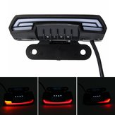 12-80V waterproof Double Flash T6 Dynamic Turn Signal Tail Brake Lights For Motorcycle Scooter