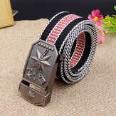 Men Women Canvas Alloy Buckle Tactical Belt Jeans Waistband
