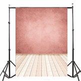 5x7FT Różowa ściana Drewniana podłoga Photo Studio Fotografia tło fotografia tło