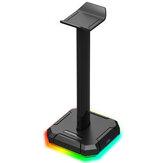 Redragon HA300 Kulaklık Tutucu RGB Aydınlık 4X USB 2.0 Bağlantı Noktaları Oyun Kulaklığı Kaymaz Katı Kauçuk Tabanlı Braketi Standı
