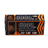 ZOP Power 7.6V 6000mAh 120C 2S Lipo Battery T Deans Plug Hard Case for  RC Car