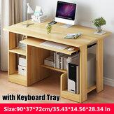 Computadora de oficina simple Computadora de escritorio simple Escritorio Escritorio para el hogar Mesa combinada con estantería y bandeja Teclado para la oficina en casa