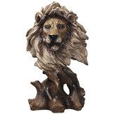 Zvířata Hlava Umění Sochařství Kreativní dřevo Kůň Lion Eagle Pryskyřice Socha Řemesla Domácí dekorace Obchodní Dárky a doplňky
