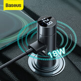 Baseus Car 3.1A PPS Carregador USB duplo de carga rápida bluetooth V5.0 FM Transmissor Adaptador Modulador Adaptador de áudio sem fio MP3 Music Player LED Display digital