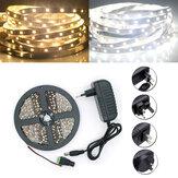 5M SMD 2835 300 LED Blanc/ Blanc Chaud Bande de LED Lumière Flexible+ Alimentation + Connecteur DC 12V
