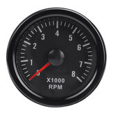2inch 52mm 0-8000RPM Rev Counter Tachometer Gauge For Diesel Motor Engine Van Boat Motorcycle