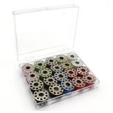 20 Color Metal Bobbins Cotton Sewing Thread Spools Sewing Machine Accessories Sewing Spool Set