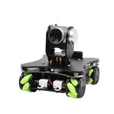 Yahboom Omniduino WIFI Video Robô Inteligente com Mecanum Wheel com FPV HD Câmera Suporte APP Controle / Controle de Alça