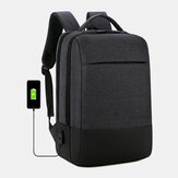 Men Oxford 15.6 Inch Laptop USB Charging Anti-theft Business Laptop Bag Backpack