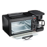 220V 3 In 1 Multifunction Breakfast Machine Electric Toaster Oven Frying Coffee