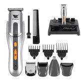 8 w 1 Elektryczna maszynka do strzyżenia włosów Wodoodporna golarka akumulatorowa IPX7 z 3 grzebieniami