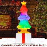 Noël coloré LED veilleuse arbre lampe de table décor de Noël enfants cadeau
