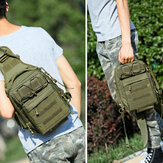 Men Nylon Camouflage Large Capacity Multi-carry Tactical Travel Outdoor Chest Bag Shoulder Bag