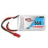 Gaoneng GNB 7.4V 550mAh 2S 80/160C Bateria Lipo JST Plug para Aurora 90 100