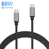 Bakeey PD 60W Data Cable USB-C to USB-C Fast Charging For Huawei P30 P40 Pro OnePlus 8Pro