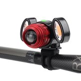 XANES 800LM T6 Luz de advertência de bicicleta Zoomable IPX6 Waterproof Bike Front Light 4 modos de carregamento USB