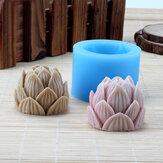 3D fatto a mano Silicone fiore di loto Sapone stampo candela rendendo resina stampo